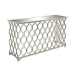 Ridge Road Décor Contemporary Metal Console Table in Silver