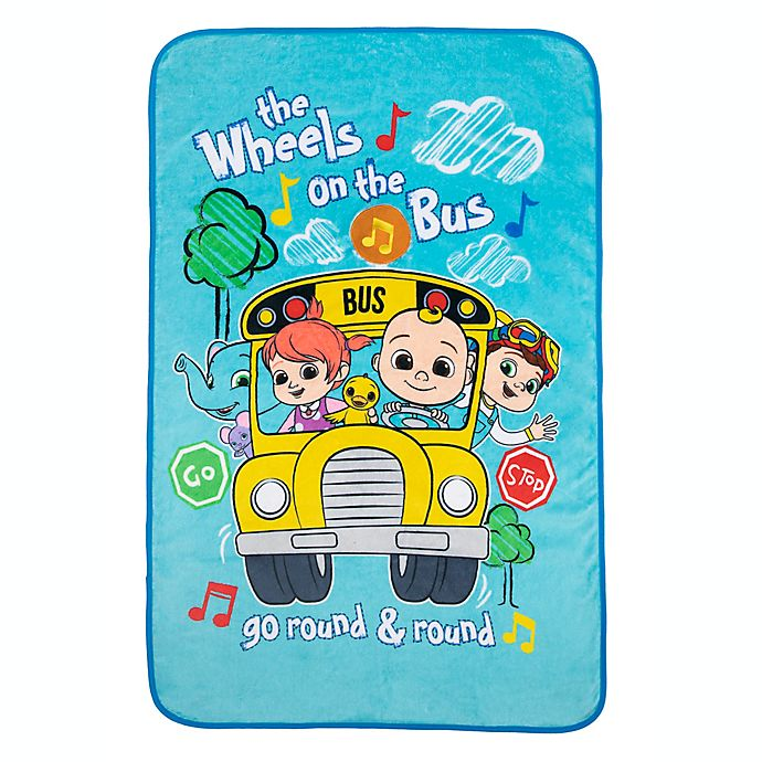 Alternate image 1 for Cocomelon Press n Play Musical Toddler Blanket