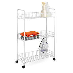 Honey-Can-Do® 3-Tier Metal Laundry Cart in White