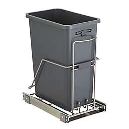 Squared Away™ Under-Cabinet 7.6-Gallon Sliding Trash Can in Brushed Nickel