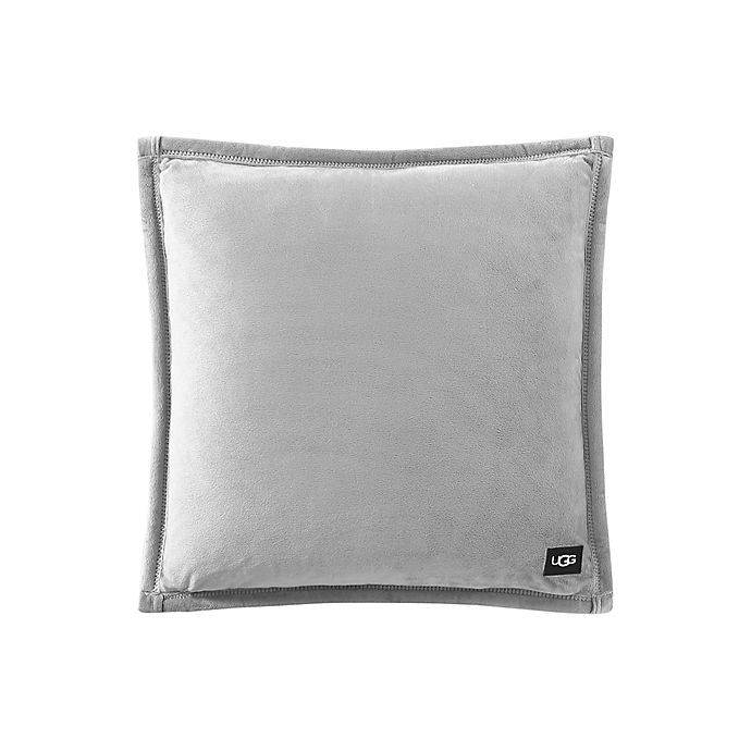 Alternate image 1 for UGG® Coco Luxe Square Throw Pillow in Seal Grey