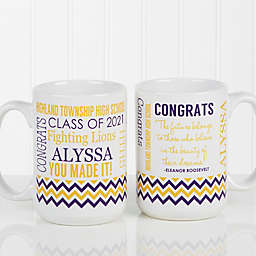 School Memories Graduation 15 oz. Coffee Mug in White