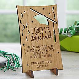Graduation Greetings Wood Postcard
