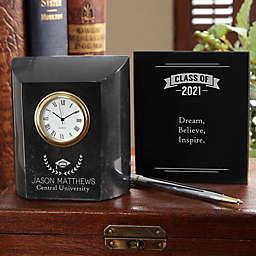 Graduation Marble Desk Clock