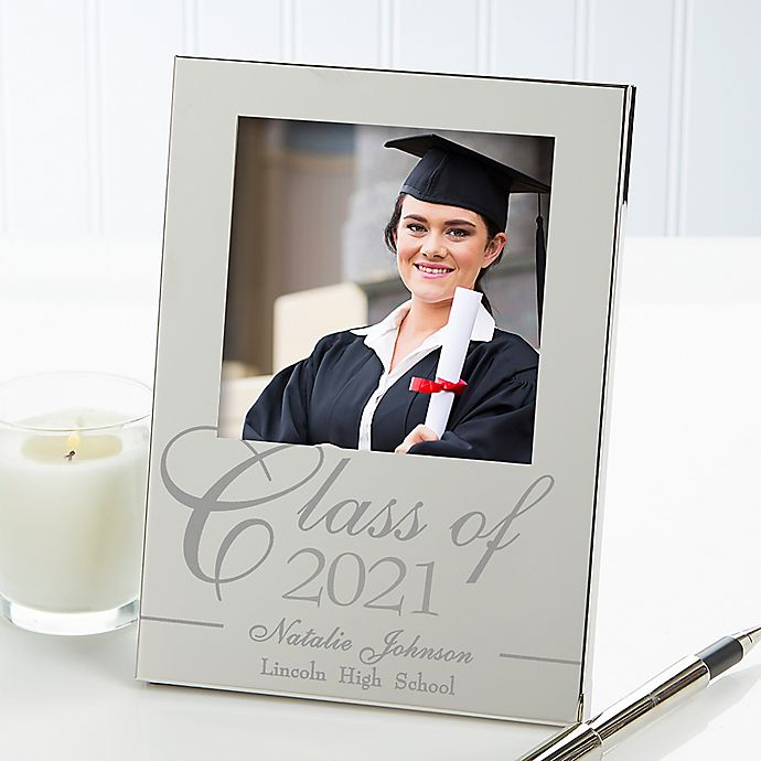 Alternate image 1 for Class Of 4.5-Inch x 6.5-Inch Engraved Picture Frame in Silver