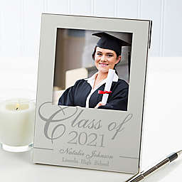 Class Of 4.5-Inch x 6.5-Inch Engraved Picture Frame in Silver