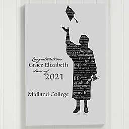 Graduate Signature Silhouette Canvas Print