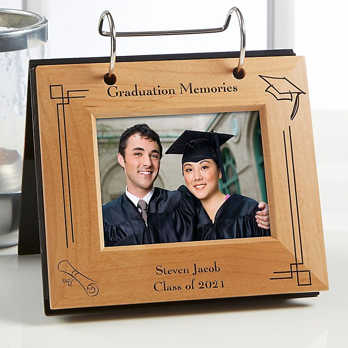 Alternate image 1 for Graduation Memories Engraved Flip Photo Album