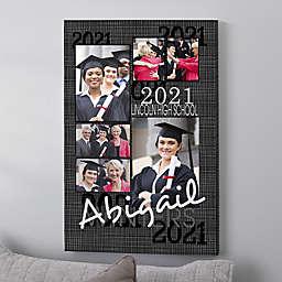 Personalized Graduation Portrait Collage Canvas