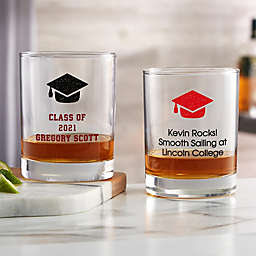 Choose Your Icon Personalized Graduation Whiskey Glass