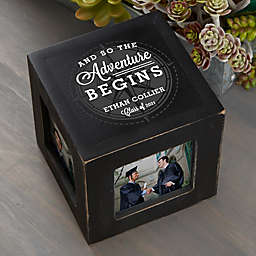 Graduation Compass Personalized Photo Cube