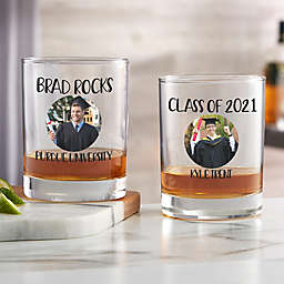 Graduation Personalized Photo Whiskey Glass