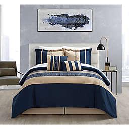 Chic Home Coralie 6-Piece Queen Comforter Set in Navy
