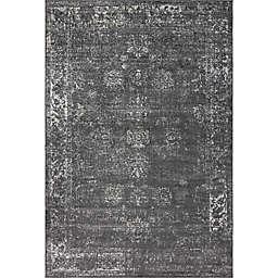 Unique Loom Sofia Floral Rug in Dark Grey