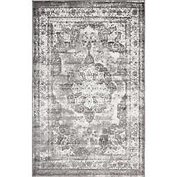 Unique Loom Salle Garnier Sofia 4' x 6' Powerloomed Area Rug in Grey