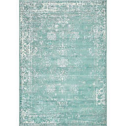 Unique Loom Casino Sofia 4' x 6' Area Rug in Turquoise