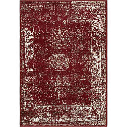 "Unique Loom Casino Sofia 2'2"" x 3' Area Rug in Burgundy"