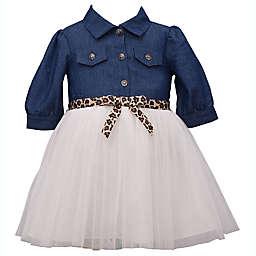 Bonnie Baby Size 12M Tutu Dress in Chambray