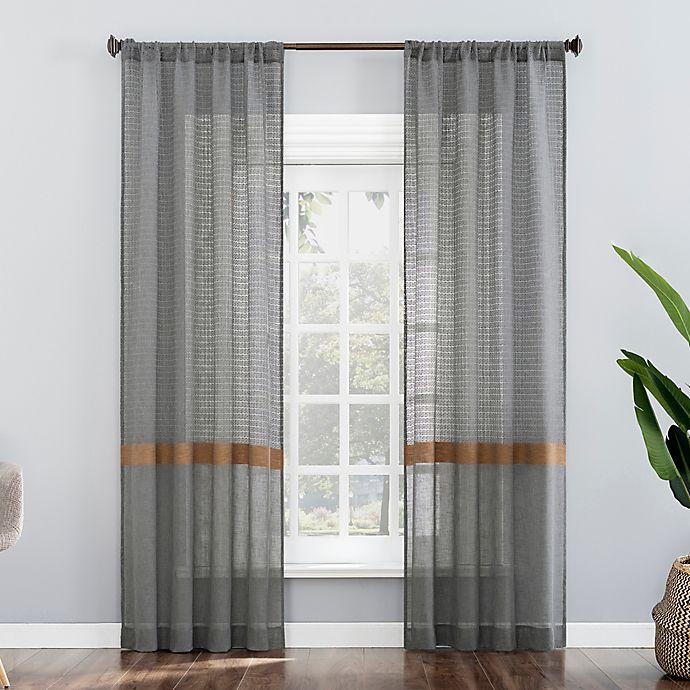 Alternate image 1 for No. 918 Elsy Stripe Semi-Sheer Rod Pocket Window Curtain Panel (Single)