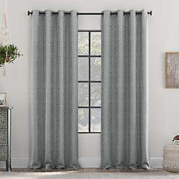 Clean Window Subtle Woodgrain Recycled Fiber Semi-Sheer Grommet Curtain Panel (Single)
