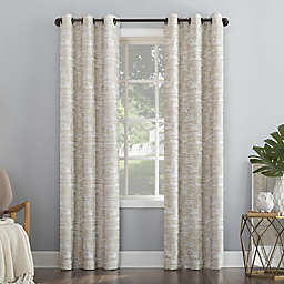 Sun Zero® Parrish Distressed Grid Thermal Blackout 96-Inch Curtain Panel in Linen (Single)
