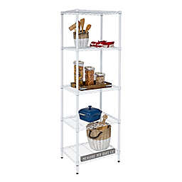 Honey-Can-Do® 5-Tier Adjustable Shelving Unit in White