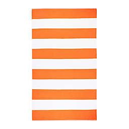 Caro Home Cabana Stripe Beach Towel in Orange