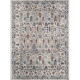 Saxon 6'7 x 9'2 Area Rug in Ivory/Multicolor
