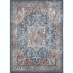 """Saxon Blue/Red  6'7"""" x 9'2""""   Area Rug"""