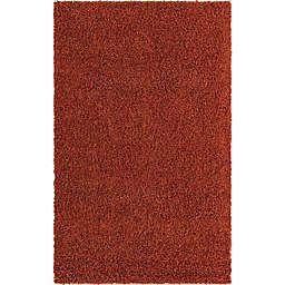 Unique Loom Solid Shag Rug in Terracotta