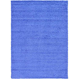 Unique Loom 8' x 11' Solid Shag Area Rug in Periwinkle