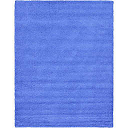 Unique Loom 12' x 15' Solid Shag Area Rug in Periwinkle