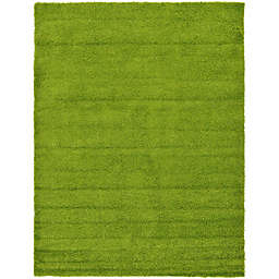 Unique Loom 8' x 11' Solid Shag Area Rug in Grass Green