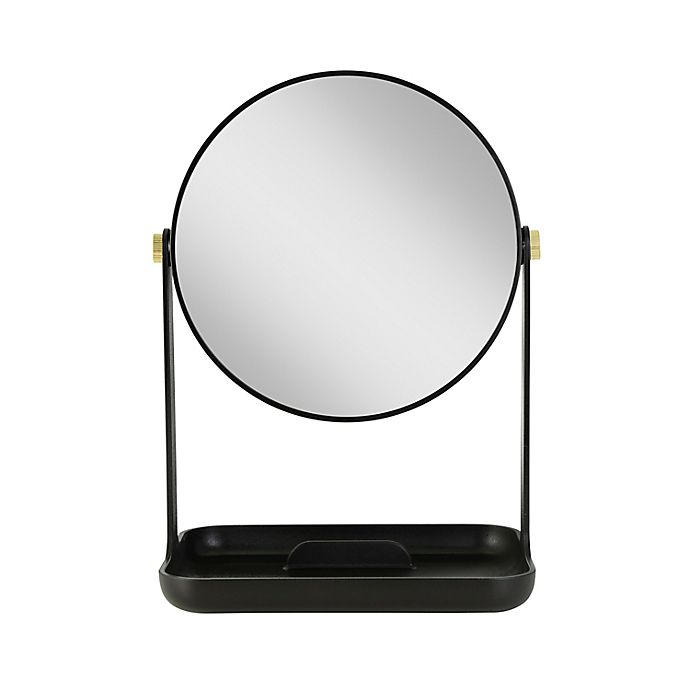 Alternate image 1 for Zadro® Bondi Dual-Sided Vanity Mirror with Accessory Tray and Phone Holder