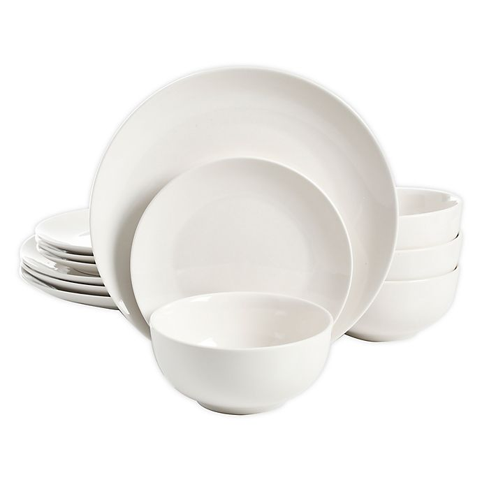 Alternate image 1 for Simply Essential™ Coupe 12-Piece Dinnerware Set in White