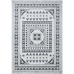 Rugs America Hailey City Shadow 8' x 10' Area Rug in White/Grey