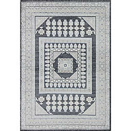Rugs America Hailey Palace Pearl 5' x 7' Area Rug in Beige/Black