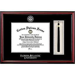 Florida Atlantic University School Seal Graduation Tassel and Diploma Frame