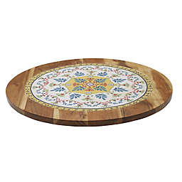 Gourmet Basics by Mikasa® Vella Wooden Tile 18-Inch Lazy Susan in Natural