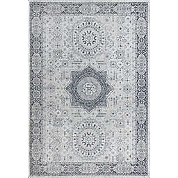 Rugs America Hailey Silver Song 5' x 7' Area Rug in Silver/Grey