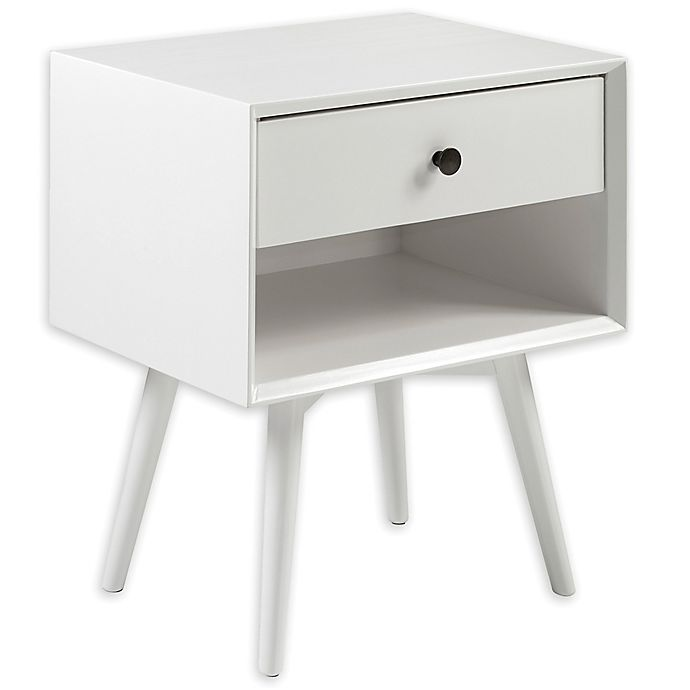 Alternate image 1 for Forest Gate™ Diana 1-Drawer Solid Wood Mid-Century Youth Nightstand