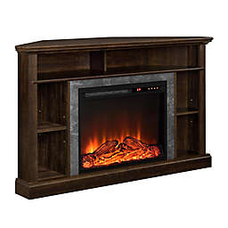 Ameriwood Home Rio 50-Inch Corner Electric Fireplace TV Stand in Espresso