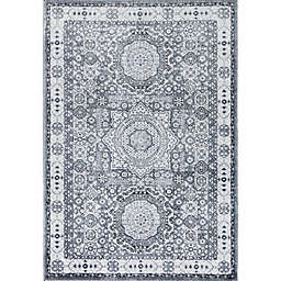 Rugs America Hailey Ice Cube 8' x 10' Area Rug in Silver/Grey