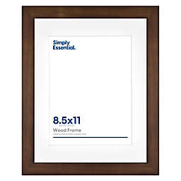 Simply Essential™ Gallery 8.5-Inch x 11-Inch Matted Wood Wall Frame in Walnut