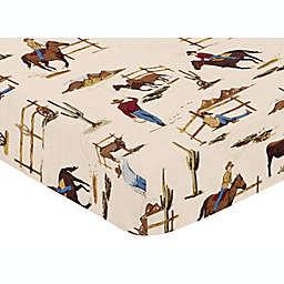 Sweet Jojo Designs Wild West Cowboy Print Fitted Crib Sheet