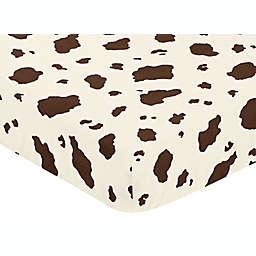 Sweet Jojo Designs Wild West Cow Print Fitted Crib Sheet