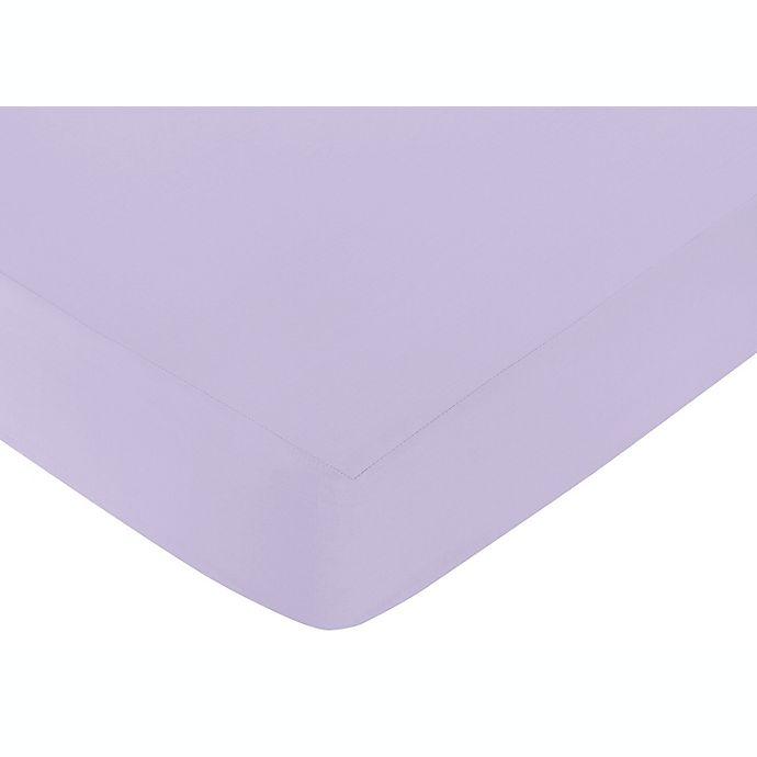 Alternate image 1 for Sweet Jojo Designs Elizabeth Fitted Crib Sheet in Lavender