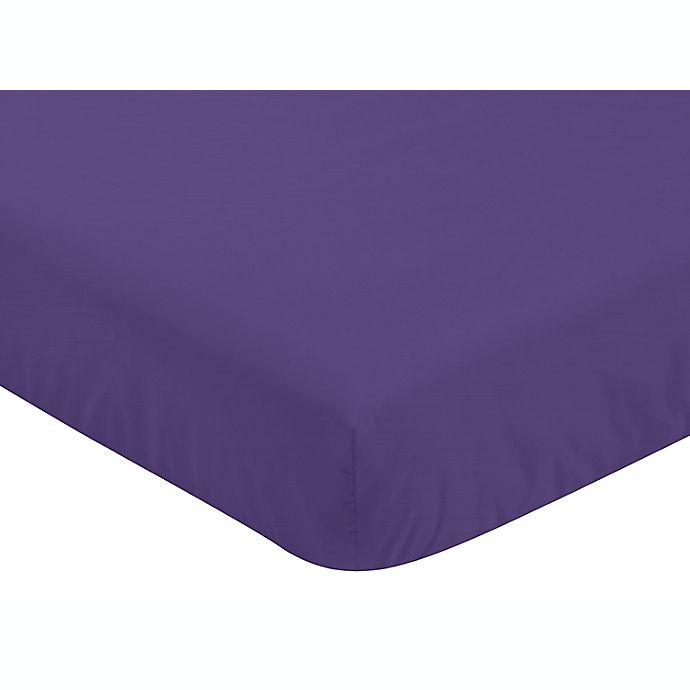 Alternate image 1 for Jojo Designs Sloane Fitted Crib Sheet in Purple