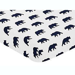 Sweet Jojo Designs Big Bear Fitted Crib Sheet in Navy