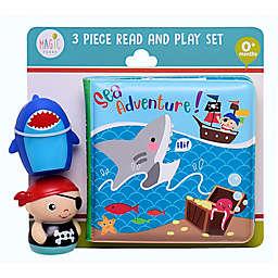 Magic Years® 3-Piece Shark & Pirate Bath Set in Blue